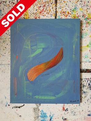 Acrylic on canvas. 46cm x 38cm x 1 cm.