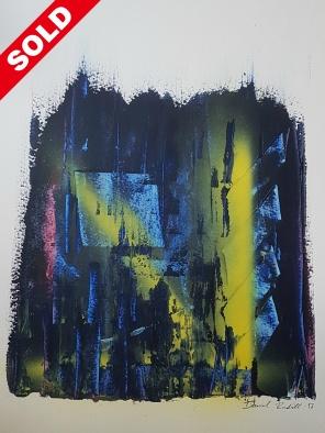 Acrylic on paper. 41 cm x 32 cm.
