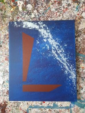 Acrylic on canvas. 60 cm x 50 cm x 4 cm.
