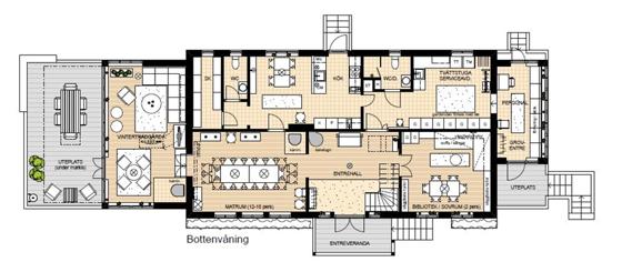 Planritning Åkagårdens Lodge