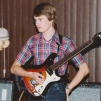 Patrick Rapp with Mosrite guitar 1982