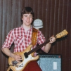 Peter Bergman with Mosrite  Ventures II model