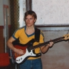 Stefan Gullicksson with Mosrite bass