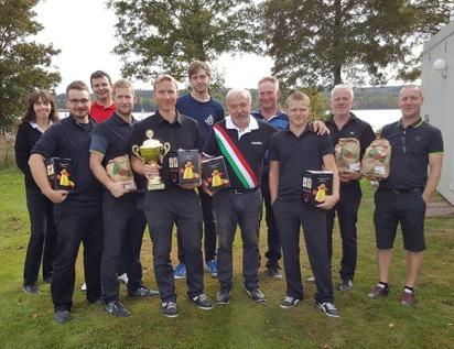 Här ses alla vinnarlagen :Team Rörvik 2, Team Lammungarna och Team Rörvik 1.