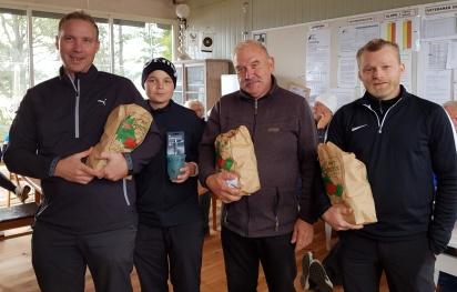 Andra plats: Morgan Axedén, Felix Axedén, Gert Vestelind och Rikard Gustafsson