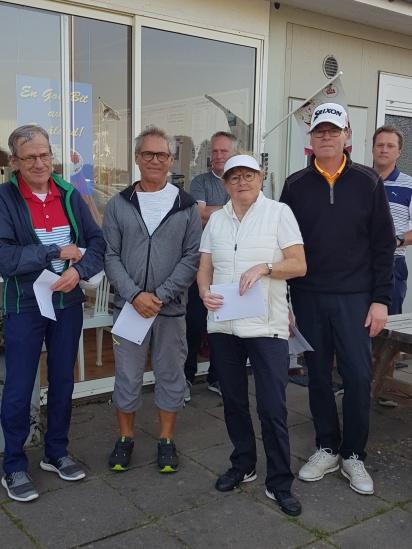 4:e plats: Tisdagsgolfarna Owe Hördegård, Jan Nilsson, Kicki Karlsson,  Håkan Nilsson