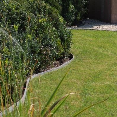 Kantband runt gräsmattan, ecolat, avgränsa gräsmatta