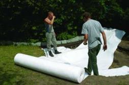 Skyddsduk , underlagsduk till dammen, anlägga trädgårdsdamm