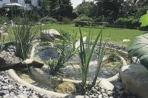 Formpressade dammar för trädgården
