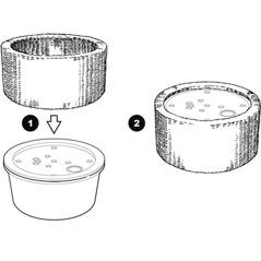 Montering av dekorkant till vattensten