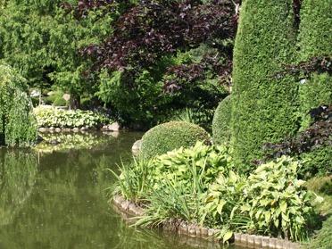 japansk trädgård zen trädgård bamuträdgård paviljong