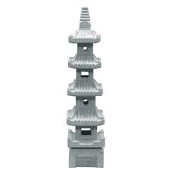 Japanskt granithus japansk trädgård pagod pagoder zen trädgårdskonst