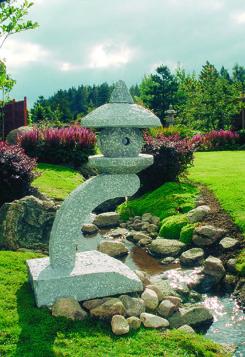 japansk trädgår japanskt granithus pagod zen trädgårdskonst
