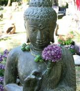 Budda asiatiska figurer trädgårdskonst japansk trädgård indonesien