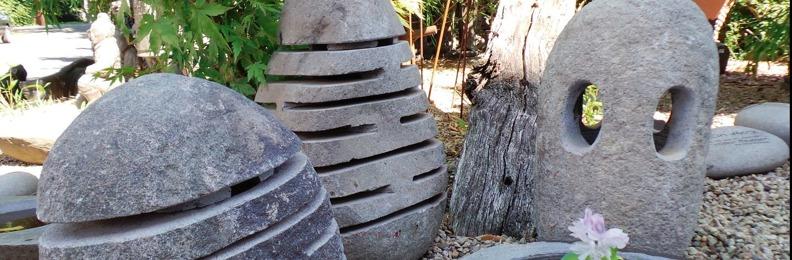 granitlyktor trädgårdsdammar natursten trädgårdsbelysning
