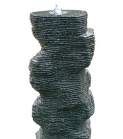 vattensten granitfontän granit trädgårdskonst vattenfontän