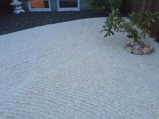japansk trädgård , japansk granithus dekorsingel trädgårdskonst zen