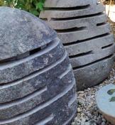 granitlampa granitlanterna granitlykta natursten handgjort trädgårdskonst