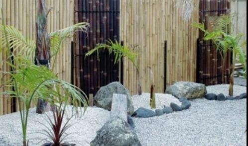 bambu bambuvägg bambuspalje pamburör japansk trädgård