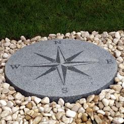 kompass granitkompass polerad granit trädgårdskonst