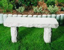 granitbänk granit trädgårdskonst