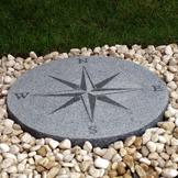 granit kompass polerad granit trädgårdskonst