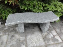 Granitbänk polerad granit bänk trädgårdsbänk