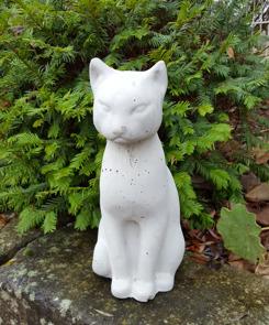 katt, dekorationsskatt, gjuten katt