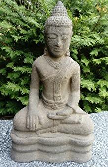 Trädgårdsfigur, budda, munk, trädgårdskonst, asiatiska figurer, japansk trädgård.