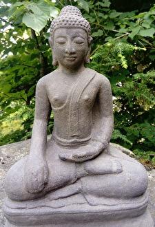 Budda, munk, asiatisk trädgårdskonst, trädgårdsfigur, japansk trädgård.