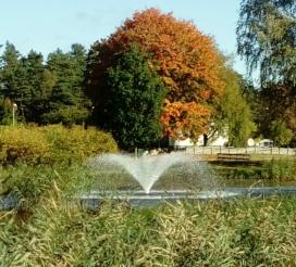 Fontän flytande, flytandefontän , stora fontäner, oase midi fontän