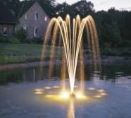 Flytande fontän , oase flytfontän , fontäner till dammen , dammprodukter önnestad