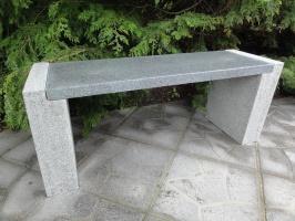 bänk i natursten , granitbänk, trädgårdsbänk,