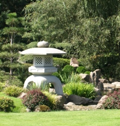 JApansk trädgårdskonst, kinesiska hus, sten hus