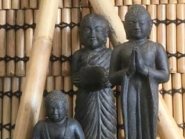 budda, asiatisk trädgårdskonst, stenfigurer , tempelkonst