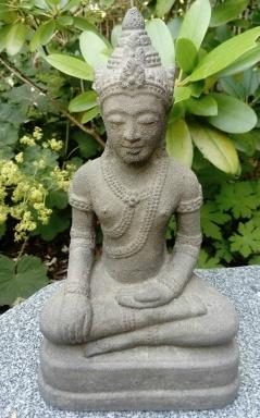 Trädgårdsfigurer, budda, munk, japansk trädgård, asiatiska figurer