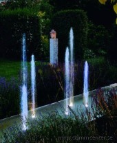 oase fontän, hoppande vatten, Water Quintet Creative