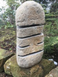 granitlykta japansk trädgård flodsten trädgårdsbelysning
