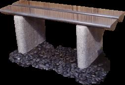 bänk i natursten granit bänk ,