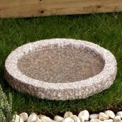 fägelbad i granit, fågelbad natursten