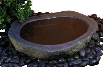 fågelbad, natursten, granitfågelbad