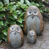 Trädgårdsfigurer i sten och granit