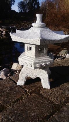 Granithus Rokkaku, japansk trädgårdshus, japan trädgård, natursten