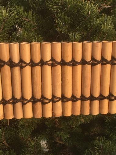 Bambu rör, trädgårds material, trädgårds bambu.