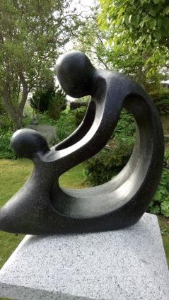 trädgårdskonst, trädgårdsfigur, terazzo modern trädgård