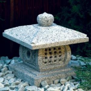 japansk trädgård, japanskt granithus Tengi Gata zen