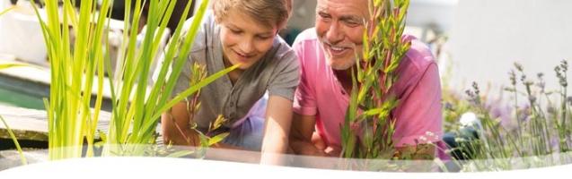 fontäner, vattenspel, springvatten , trädgårdsdamm inspiration önnestad