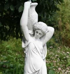 staty , trädgårdskonst, vit marmorkonst