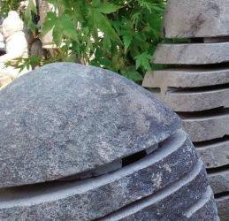stne lyktor i natursten , trädgårdskonst