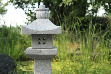japansk trädgård Shizendou lanterna